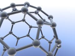 buckminsterfullerene molecule - stock illustration