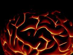 Human brain, artwork Stock Illustration