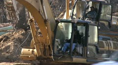 CONSTRUCTION HEAVY EQUIPMENT EXCAVATOR 6 Stock Footage
