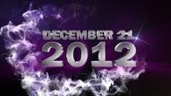 December 21 2012 text blue Stock Footage