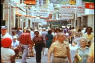 The main street in Wilhelmstadt, Curacao. Stock Footage