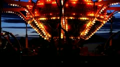Getting Dizzy on a Carnival Ride - stock footage