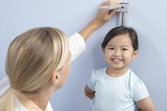 Child height measurement Stock Photos