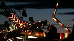 Fair Ride with Stobe Lights Stock Footage