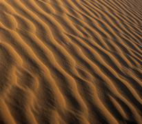 Ripples in a sand dune Stock Photos