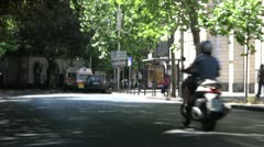 Street of Catania (Sicily) in summer. - stock footage
