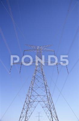 Stock photo of electricity pylon