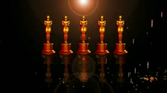 Oscar red carpet Stock Footage