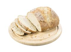 white artisan bread. - stock photo
