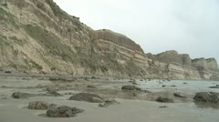 Stock Video Footage of High sedimentary cliffs