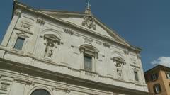San Luigi dei Francesi church, Rome Stock Footage