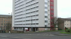 Tower Block of Flats Stock Footage