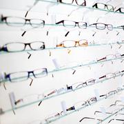 Stock Photo of glasses on display