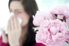 hayfever - stock photo