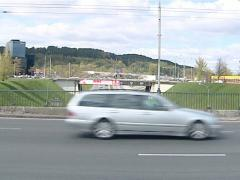 automobiles viaducts city - stock footage