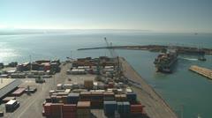 Fast containership  turnaround Stock Footage