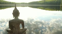 Buddha at the Lake. Stock Footage