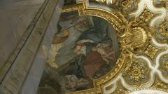 San Luigi dei Francesi ceiling, Rome Stock Footage