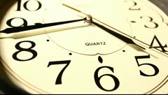 Clock face Stock Footage