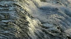 Waterfall Side View Close Up Stock Footage