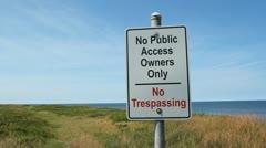 No public access. Stock Footage