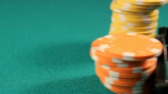 Colorful poker chips Stock Footage