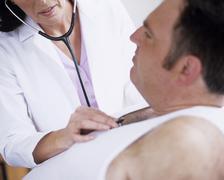Stethoscope examination Stock Photos