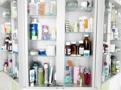Bathroom cabinet Stock Photos