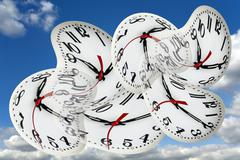 time warps, conceptual artwork - stock illustration