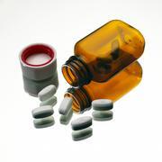 Stock Photo of erythromycin antibiotic pills
