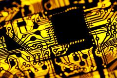 Printed circuit board, artwork Stock Illustration