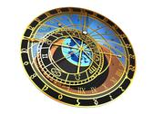 Astronomical clock, artwork Stock Illustration