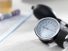 blood pressure gauge - stock photo