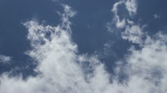 Sky Clouds Jet - stock footage