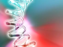 dna molecule, artwork - stock illustration