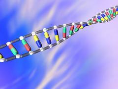 Gene therapy, conceptual artwork Stock Illustration