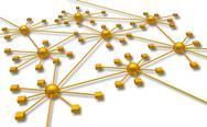 Network diagram Stock Illustration