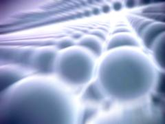 Nanoparticle lattice, artwork Stock Illustration