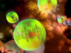 nanoparticles, artwork - stock illustration