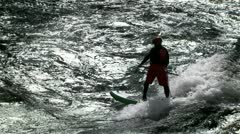 River surfing Stock Footage