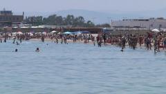 Catania city beach. Stock Footage