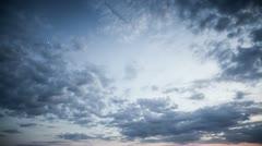Cloudy sky (timelapse) Stock Footage