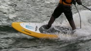 Stock Video Footage of river surfing