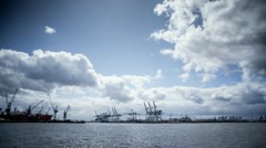Harbor in Hamburg, timelapse Stock Footage