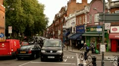 Corner Barons court London Stock Footage