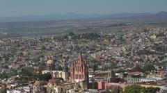 San miguel de allende overview mexico Stock Footage