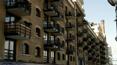 London Flats at Butlers Wharf Stock Footage