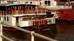 Boat on the Thames Dixieland Stock Footage