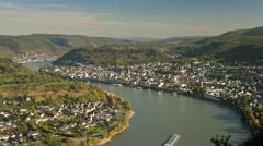 Germany, Rhine, Boppard, T/L Stock Footage