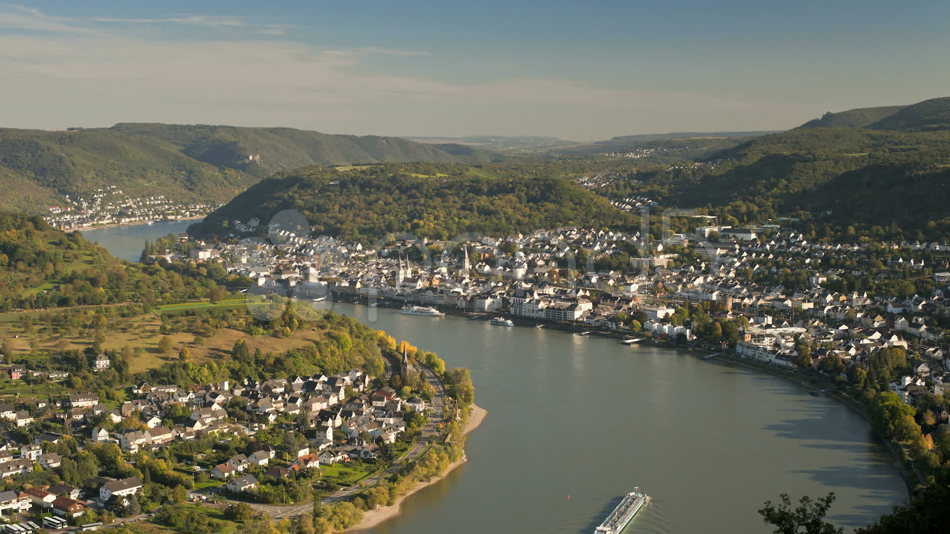 Boppard Germany  city images : Germany, Rhine, Boppard, T/l Stock Video 11168509 | HD Stock Footage